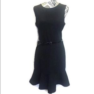 The limited black sleeveless sz 10 belted dress